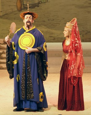 Emperor and Princess Jasmine -- Aladdin Broxbourne pantomime photo 2007/2008