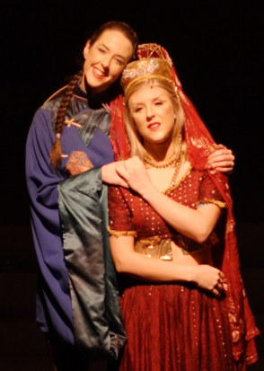 Aladdin and Princess Jasmine -- Broxbourne pantomime photo 2007/2008