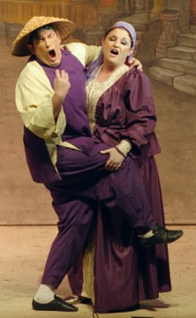 Wishee and Notsoshy -- Aladdin Broxbourne pantomime photo 2007/2008