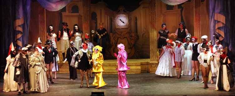 Cinderella Pantomime Broxbourne: Ugly Sisters at the Ball