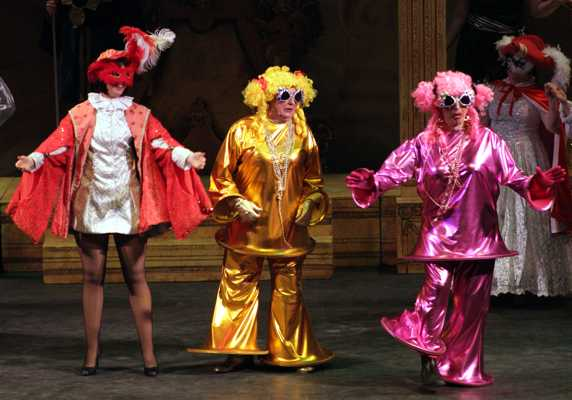 Cinderella Pantomime Broxbourne: Prince Charming and Ugly Sisters at the Masked Ball