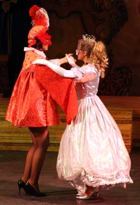 Cinderella Pantomime Broxbourne: Prince Charming and Cinderella dance at the Masked Ball