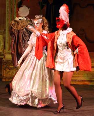 Cinderella Pantomime Broxbourne: Prince Charming and Cinderella at the Masked Ball