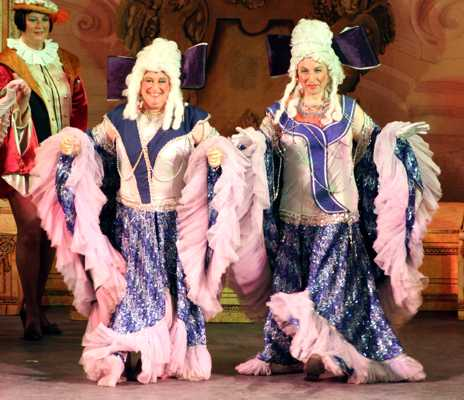 Cinderella Pantomime Broxbourne: Ugly Sisters in Finale
