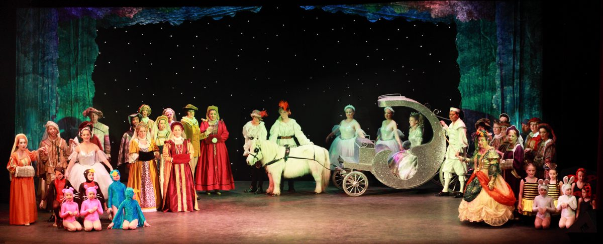 Cinderella Pantomime Broxbourne: Cinderella with Coach and Pony going to the Ball