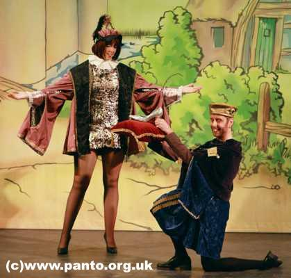 Cinderella Pantomime Broxbourne: Prince Charming and Major Domo with Slipper