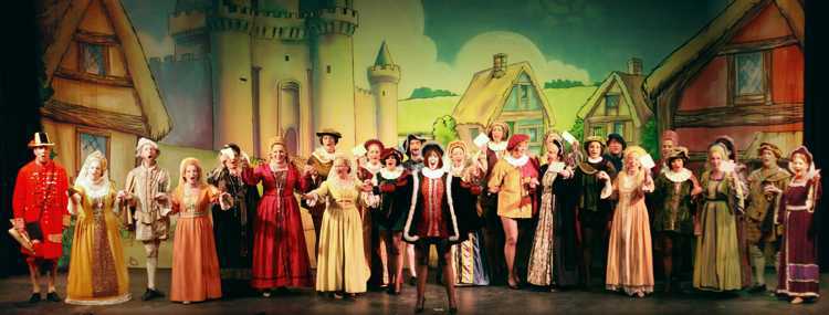 Cinderella Pantomime Broxbourne: Prince Charming and Villagers