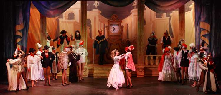 Cinderella Pantomime Broxbourne: Cinderella and Prince Charming at the Masked Ball
