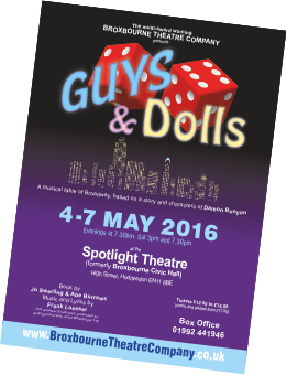Guys and Dolls Leaflet