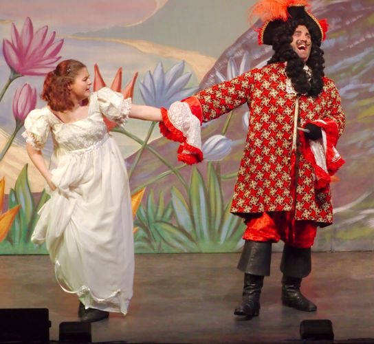 Wendy and Captain Hook -- Peter Pan the Pantomime -- Broxbourne