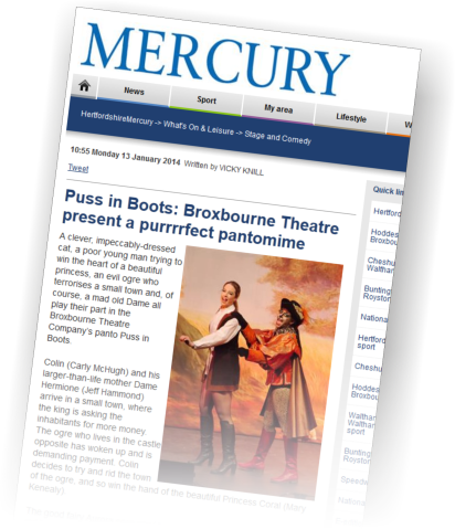 Broxbourne Theatre Company Puss in Boots Mercury Review