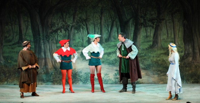 Broxbourne Theatre Company Pantomime: Friar Tuck, Will Scarlet, Robin Hood, Little John and Maid Marian