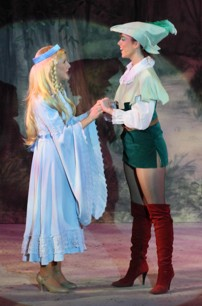 Broxbourne Theatre Company Pantomime Photo: Maid Marian and Robin Hood
