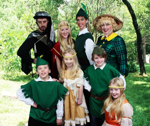 Cast photo Robin Hood and the Babes in the Wood Pantomime Broxbourne